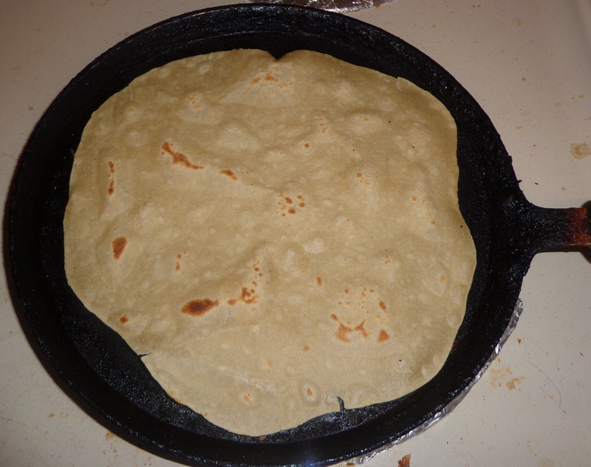 Chapati is getting cooked