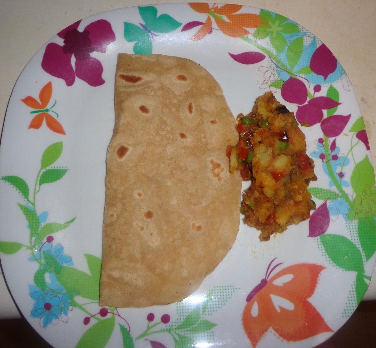 Soft Chapati or Indian bread or Roti