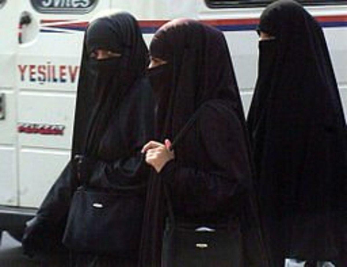 Muslim women in their niqabs