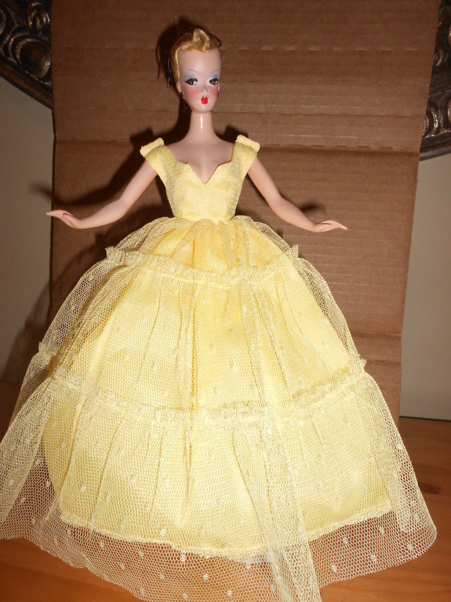 Lilli Doll The German Doll in a yellow gown That Inspired Ruth Handler to create Barbie