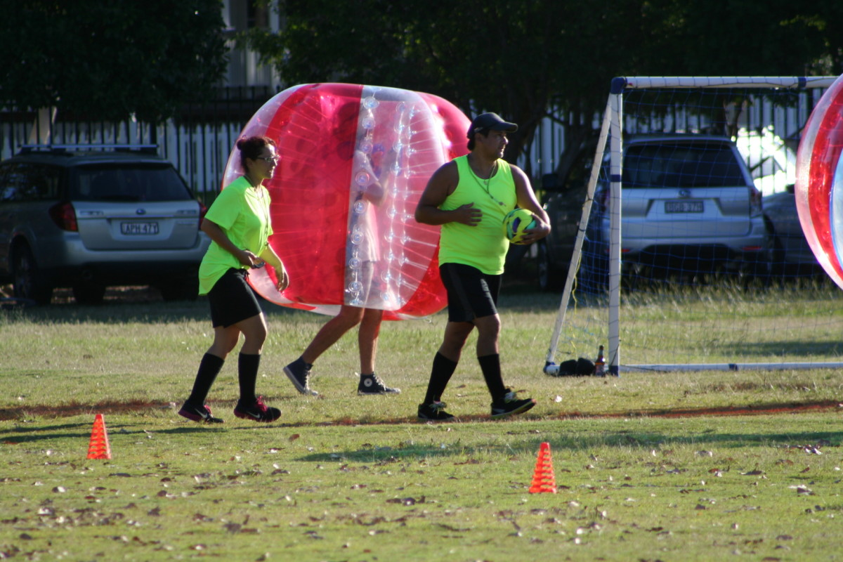 The role of a referee or umpire in bubble soccer is very different to a regular football game. It helps to have two refs on the field during a bubble soccer game. Bright vests make it easier for players to see and avoid them.