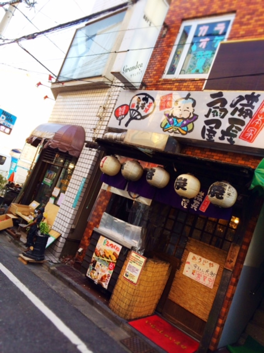 Traditional Japanese pubs are on every street and every corner.