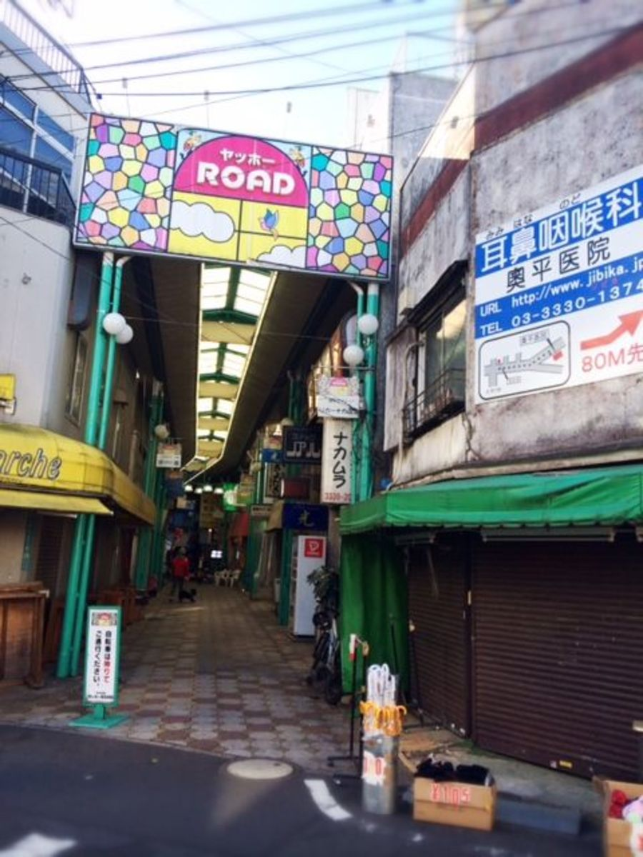 One of the older arcade-style shopping streets.