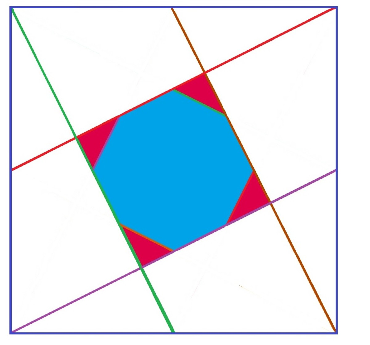 how to find the area of each regular polygon