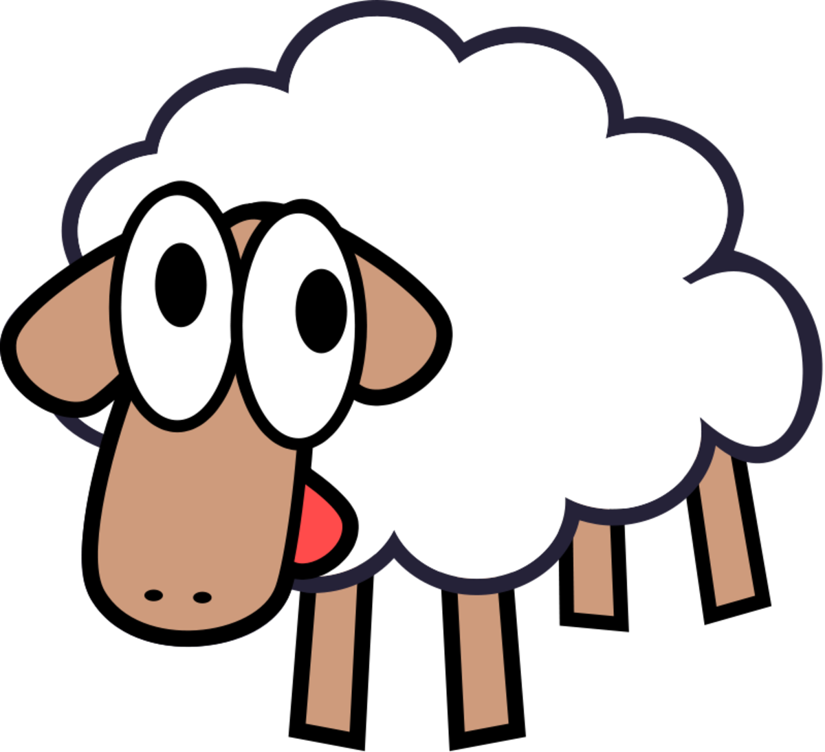 Cartoon Spring Lamb
