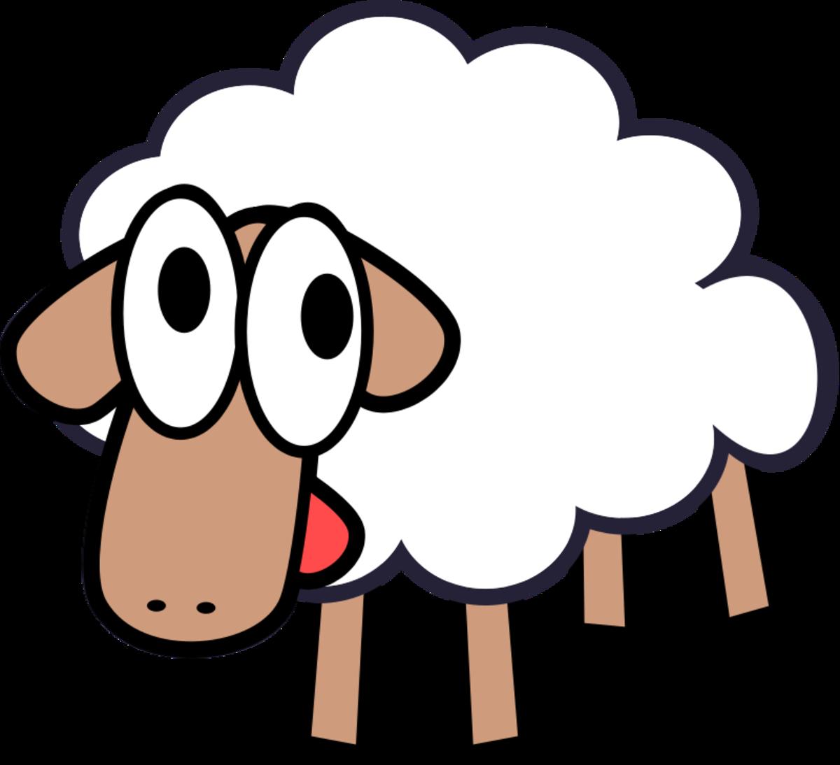 Cartoon Spring Lamb