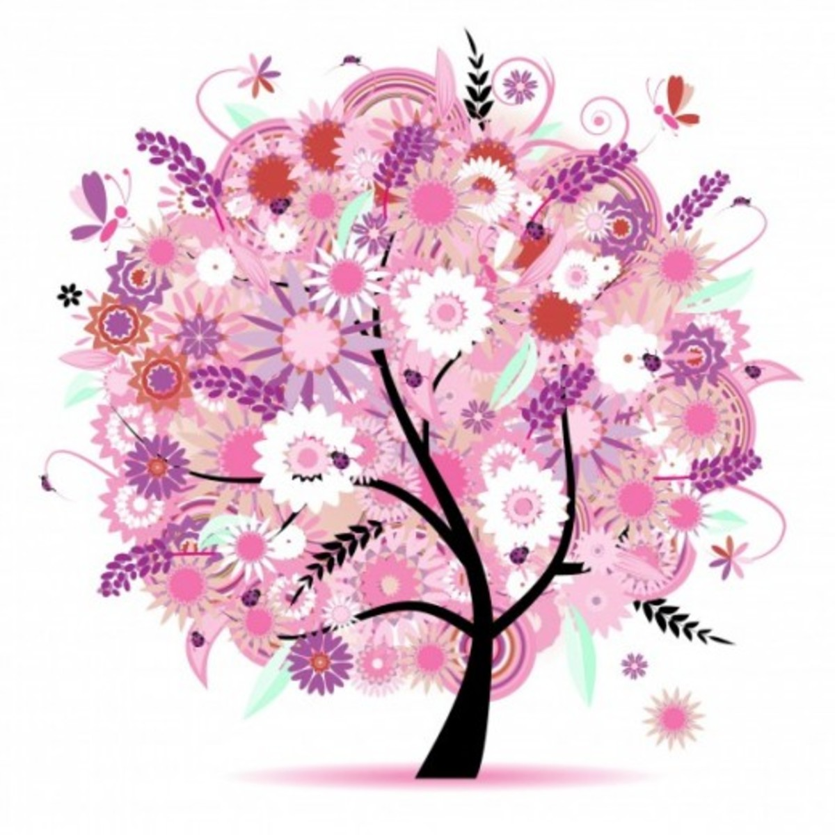 Tree with Flowering Blossoms