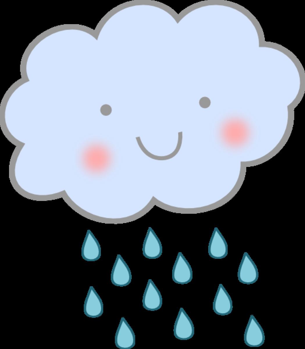Rain Cloud and Rain Falling