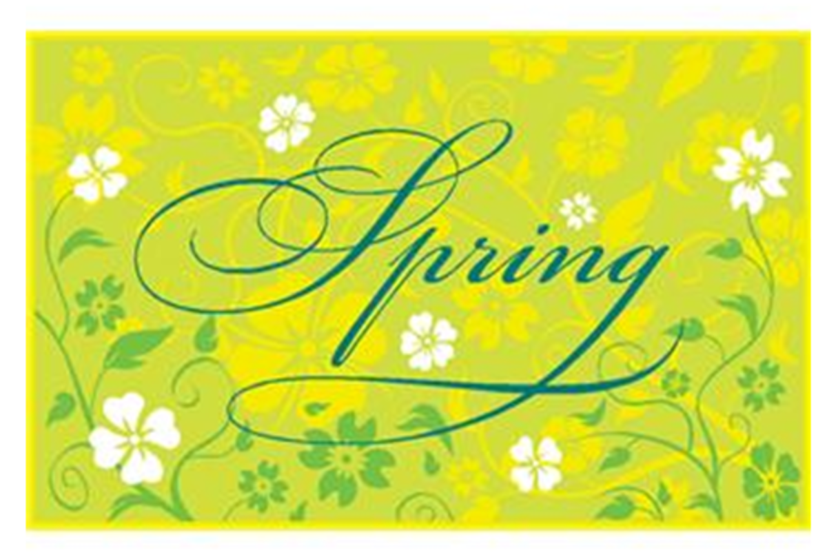The Word 'Spring' with Flowers