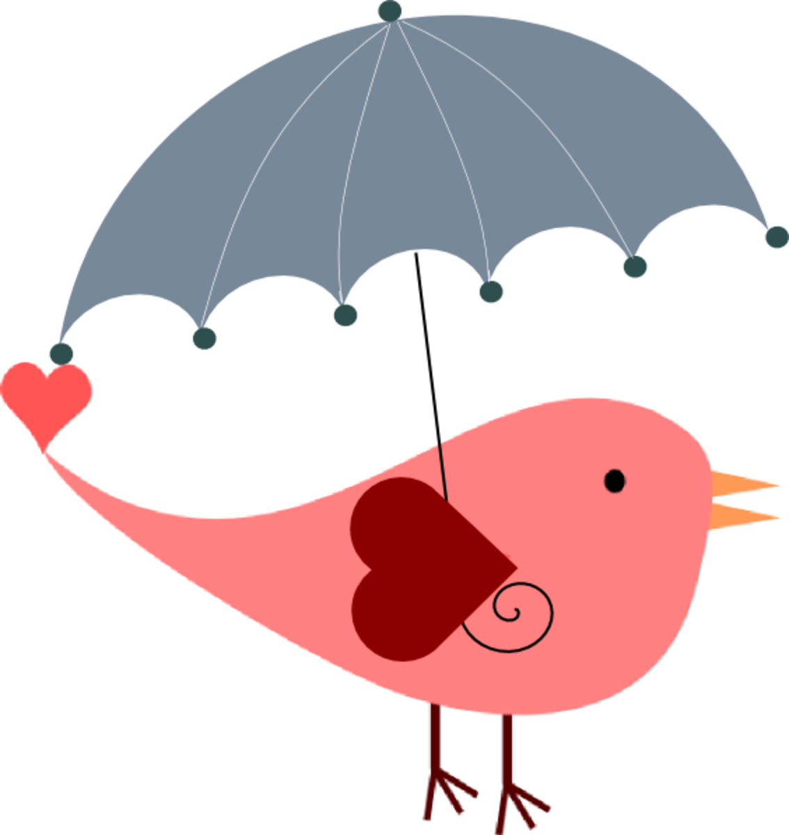 Bird with Umbrella