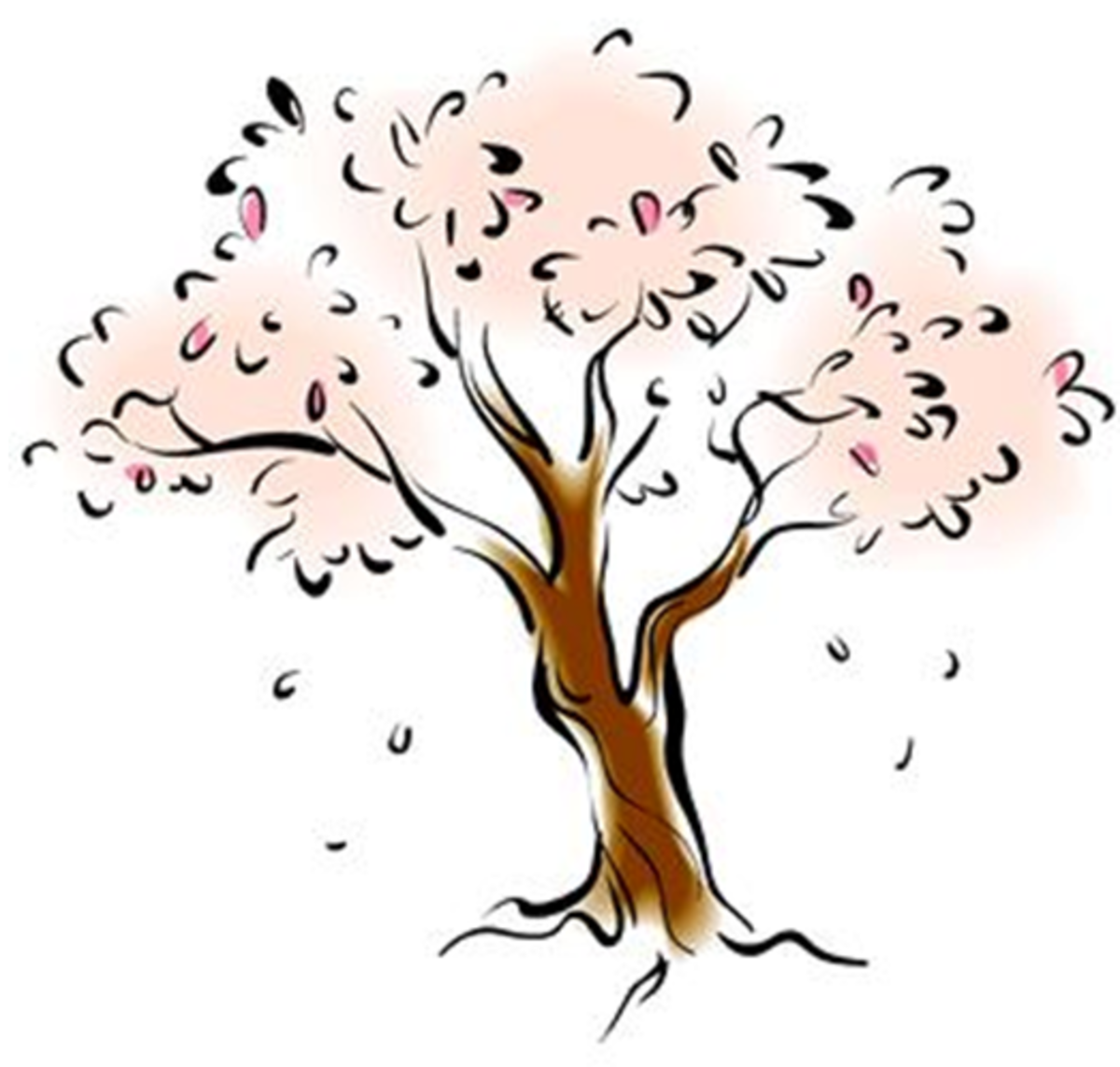 Tree with Pink Blossoms