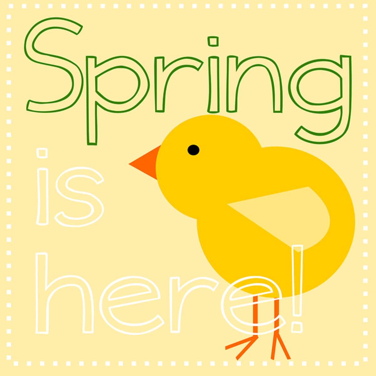 'Spring is Here' with a Baby Chick