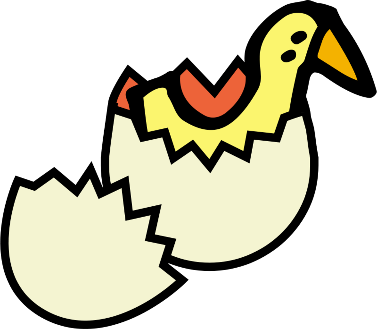 Spring Chick Hatching Clip Art