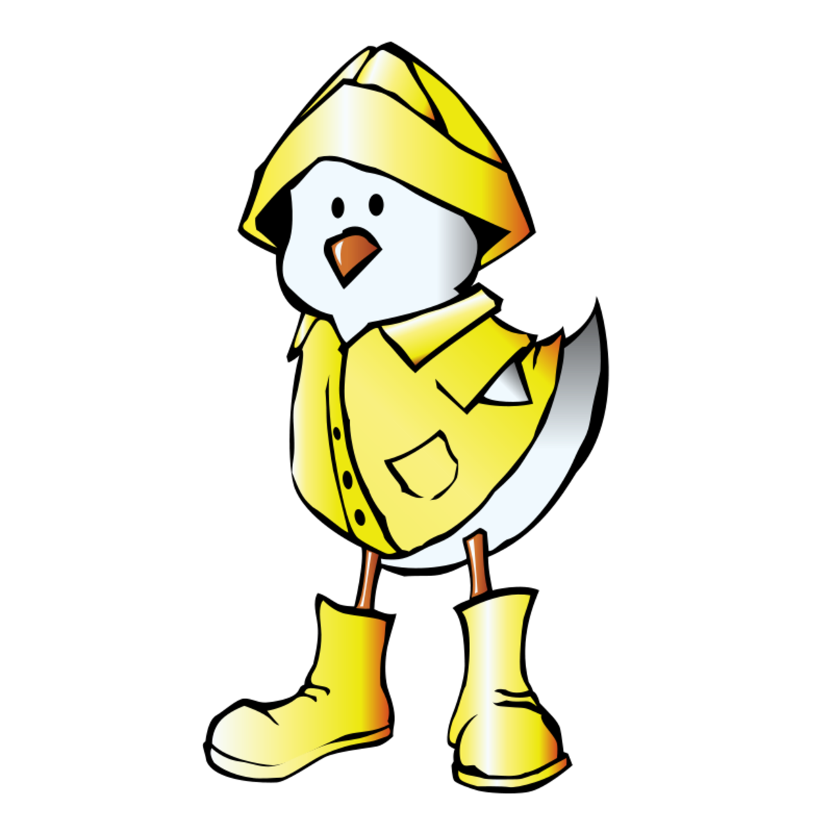Cartoon Duck in a Raincoat
