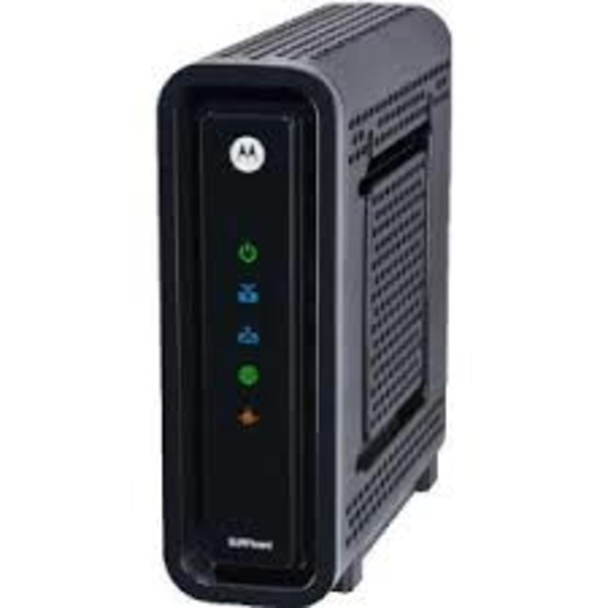 The Motorola SB6121 or SB6141 are some of the best cable modem in the market today