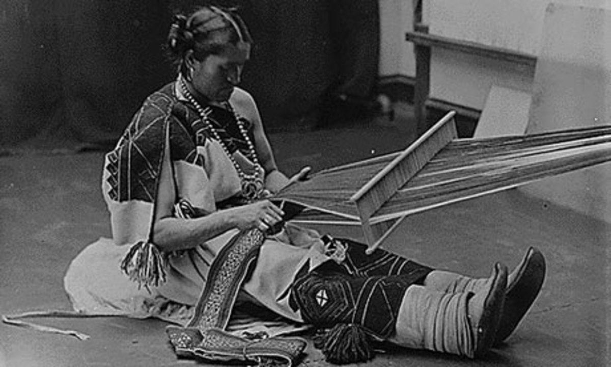 A Zuni two spirit weaving.