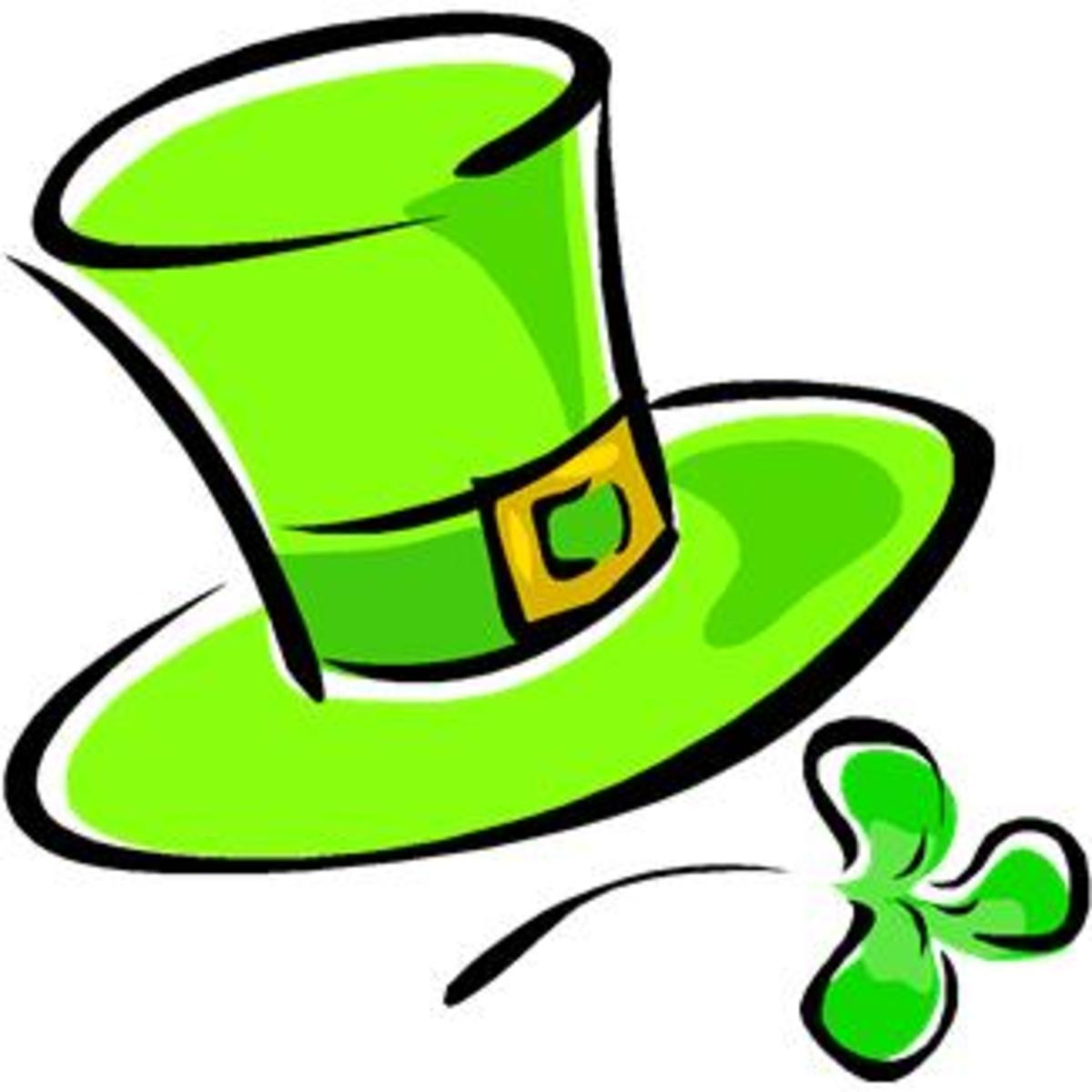 Leprechaun Hat and Shamrock