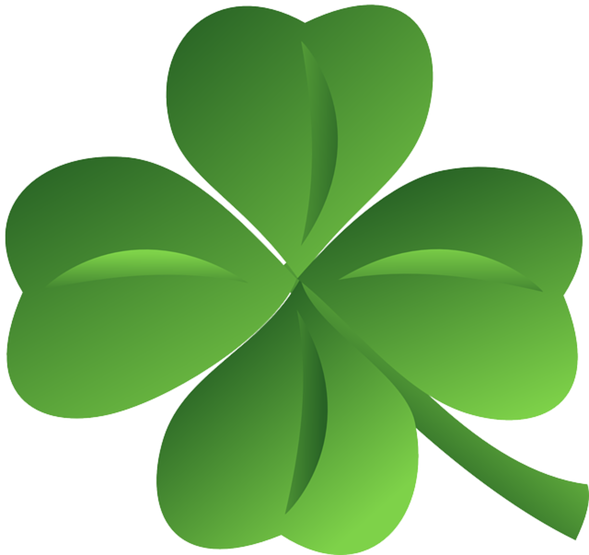 Four-Leaf Shamrock Close-Up