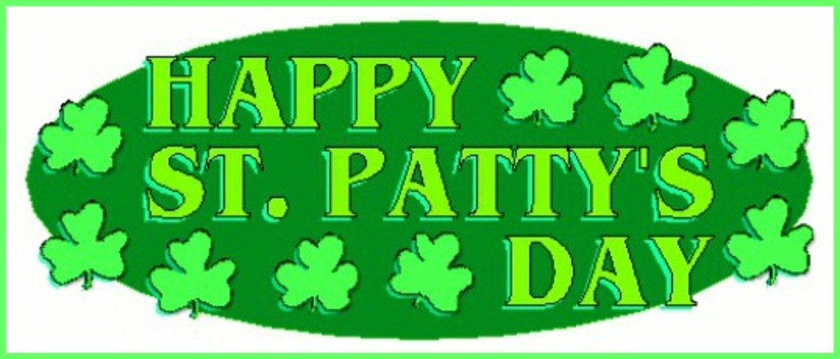 'Happy St. Patty's Day' with Shamrocks