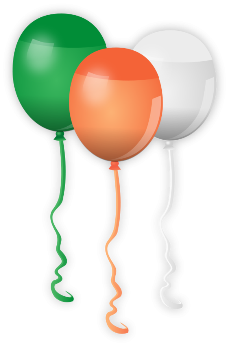 Balloons in Colors of Ireland