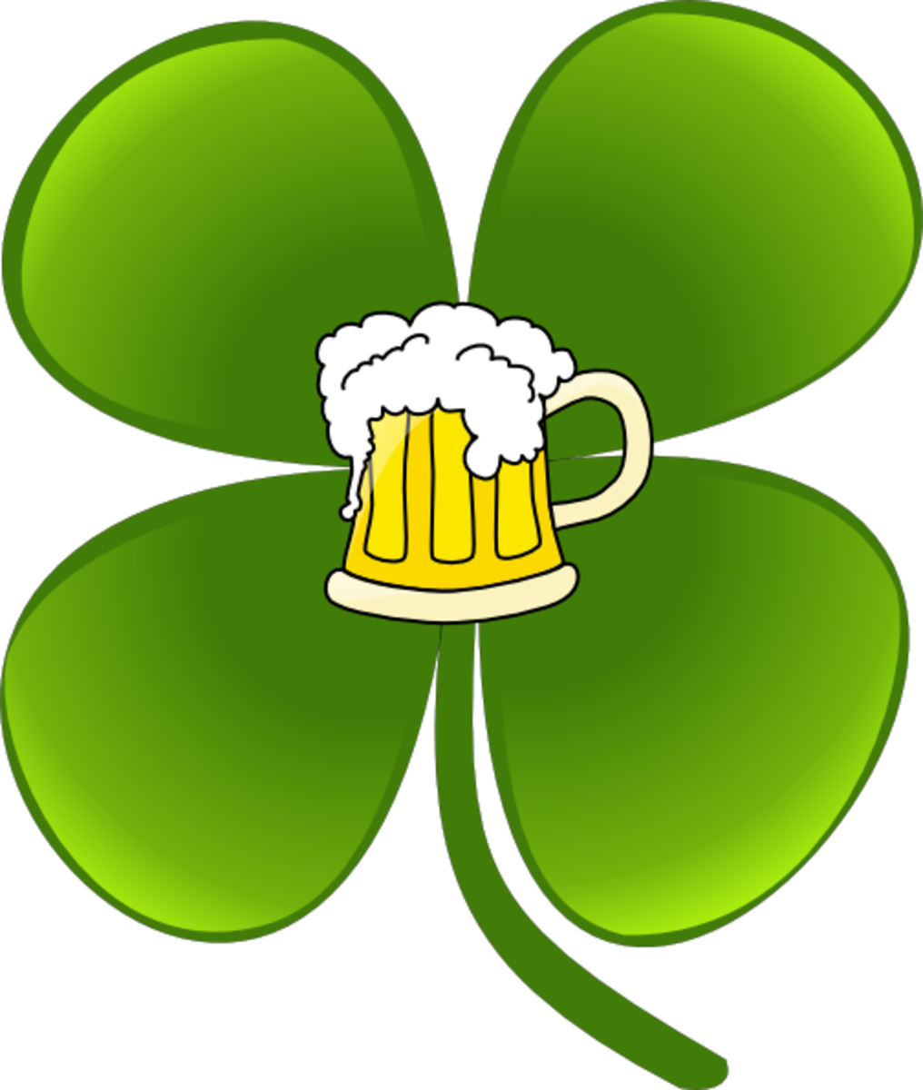 Four-Leaf Shamrock with Beer
