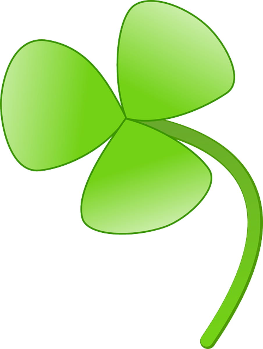 Shamrock on Curved Stem