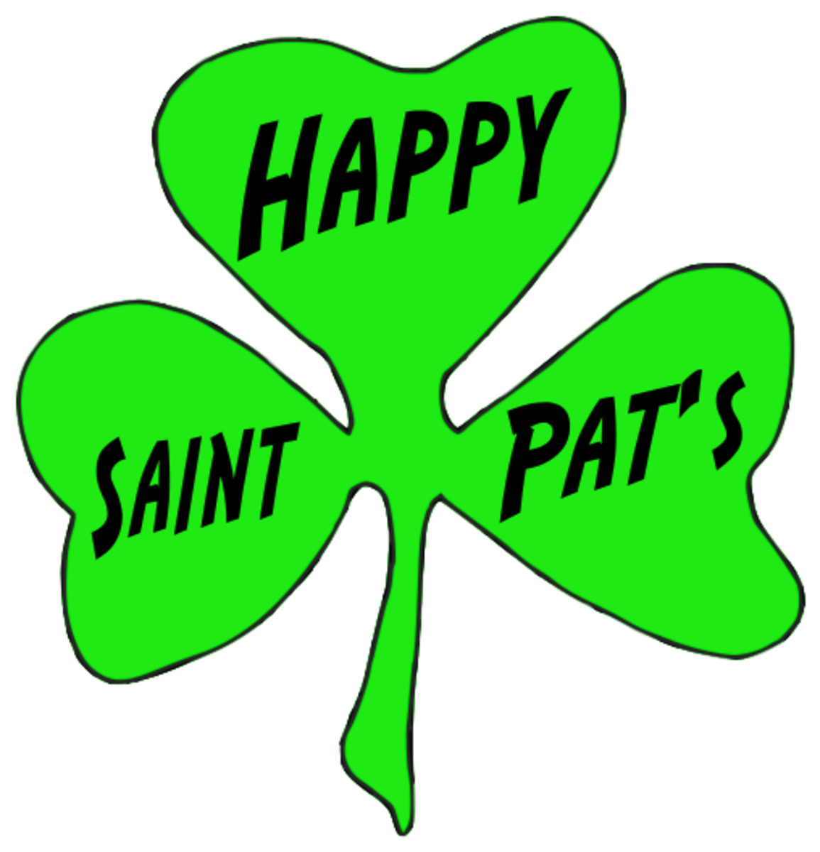 'Happy Saint Pat's' on a Shamrock