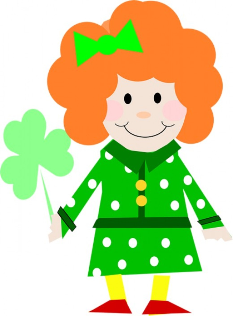 Irish Girl with Shamrock