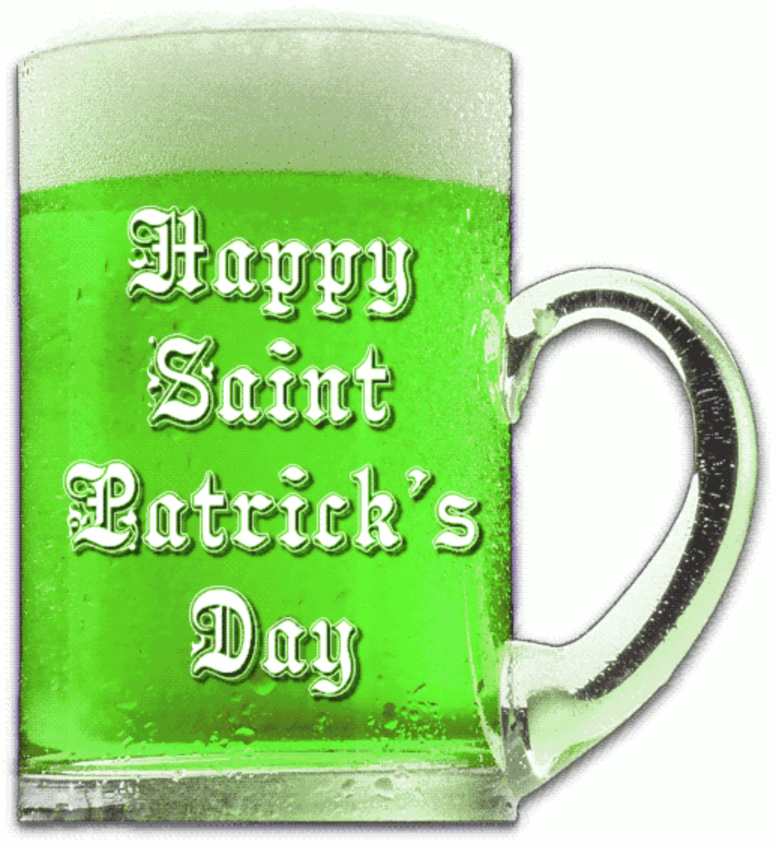 'Happy Saint Patrick's Day' on Green Beer Image