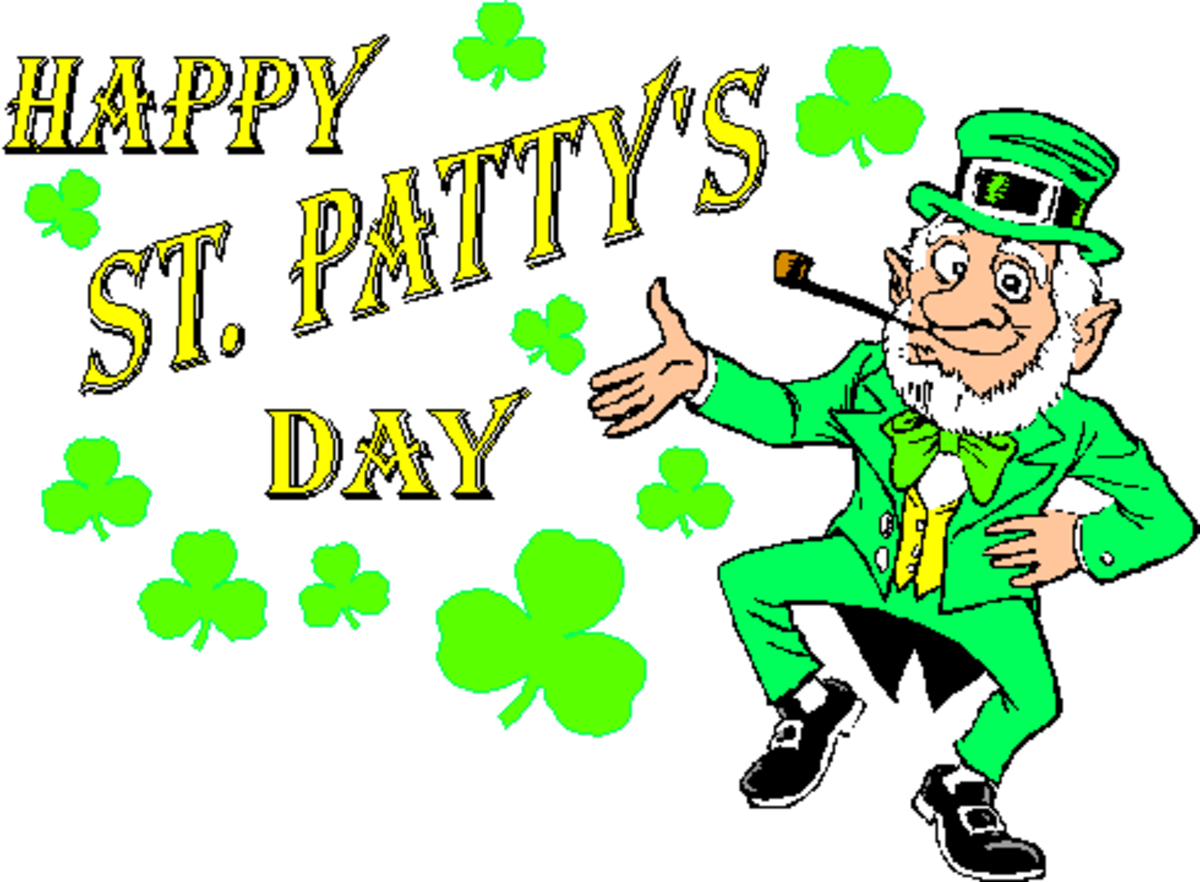 Happy St. Patty's Day with Leprechaun Dancing the Jig