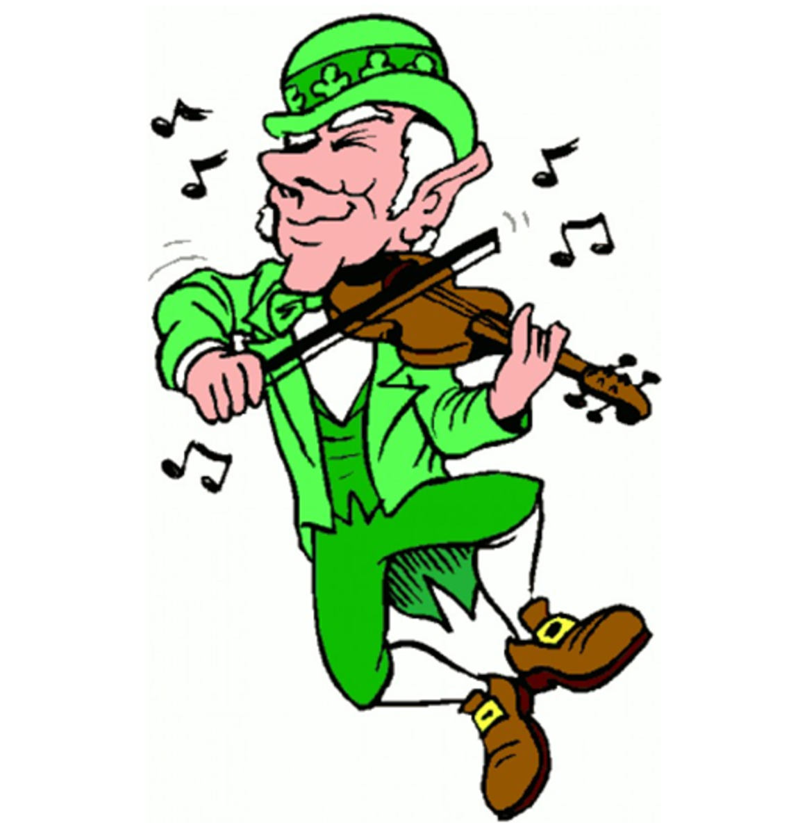 Leprechaun Dancing and Playing Fiddle