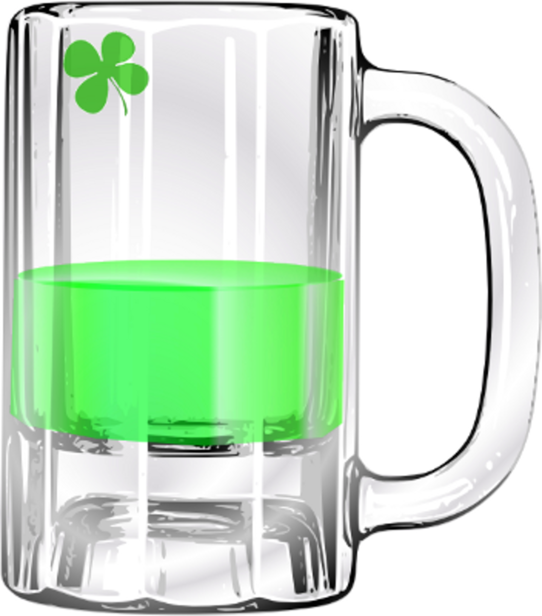 Half Empty Mug of Green Beer