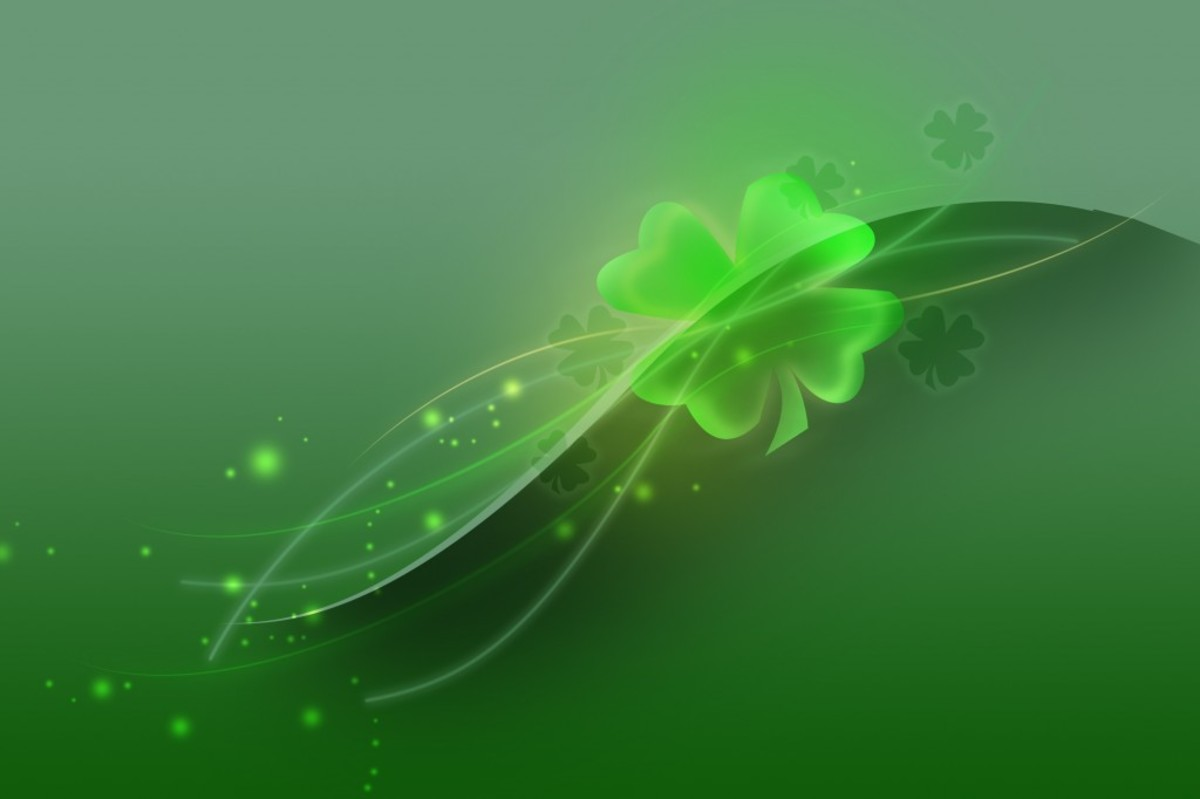 Four-Leaf Shamrock Fantasy Art
