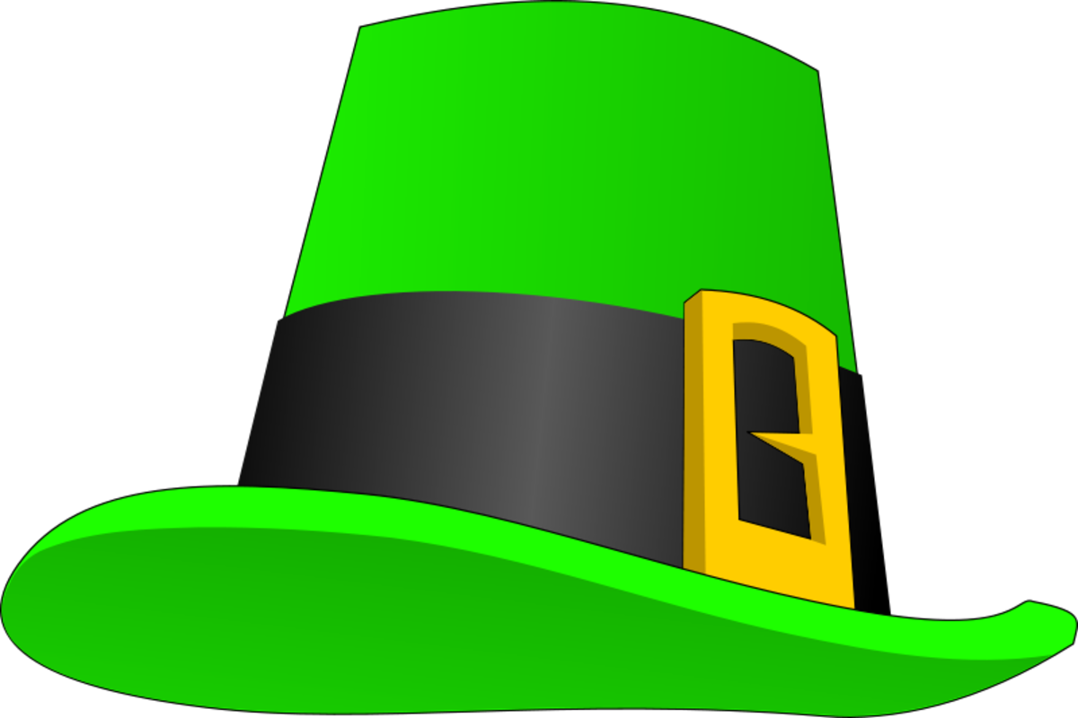 Green Leprechaun Hat with Gold Buckle