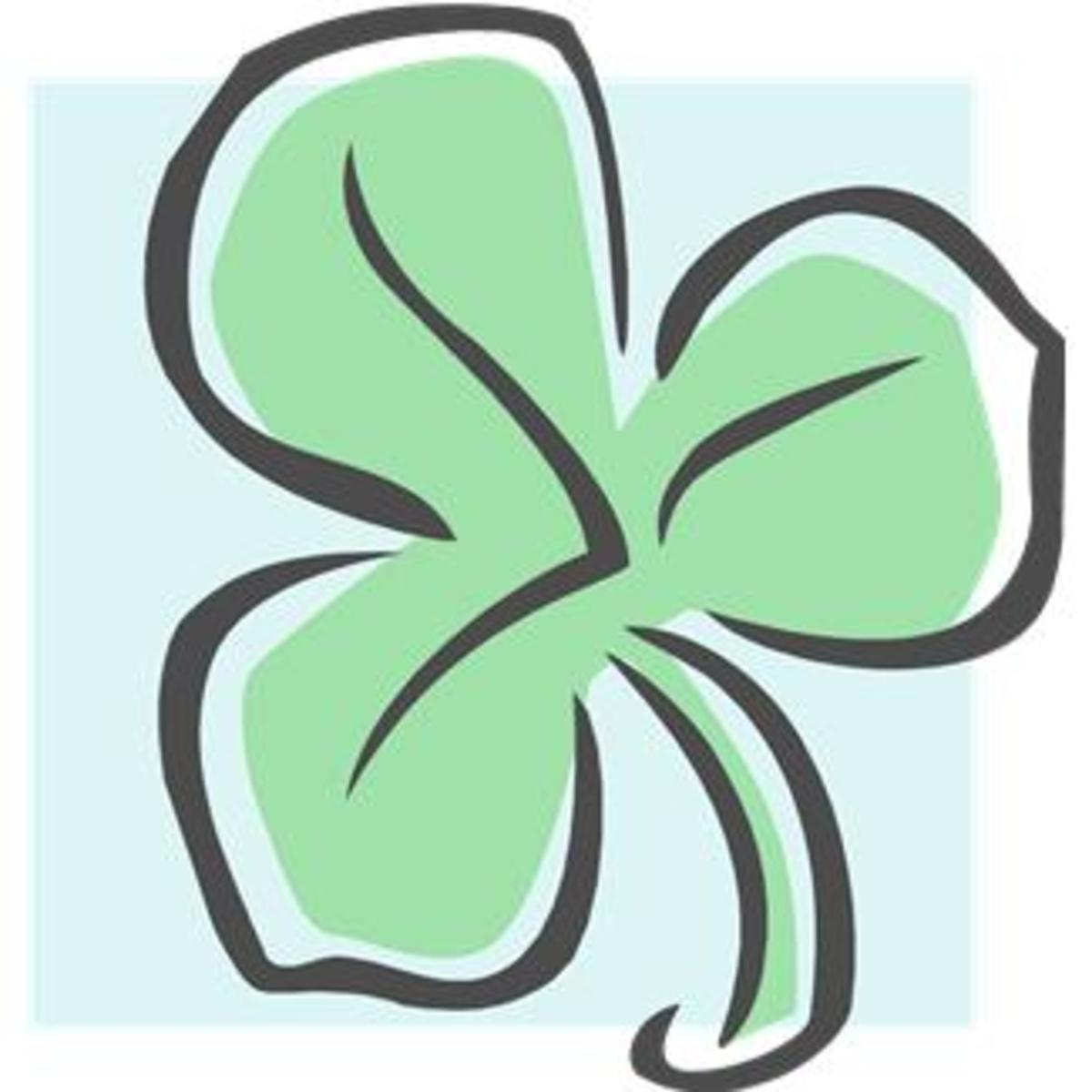 Shamrock on Blue Background