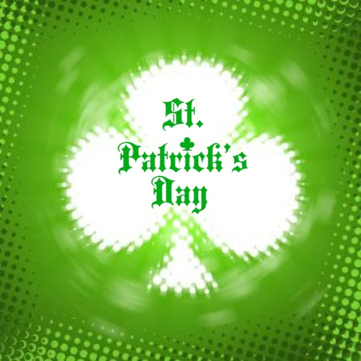 'St. Patrick's Day' on Shamrock Image
