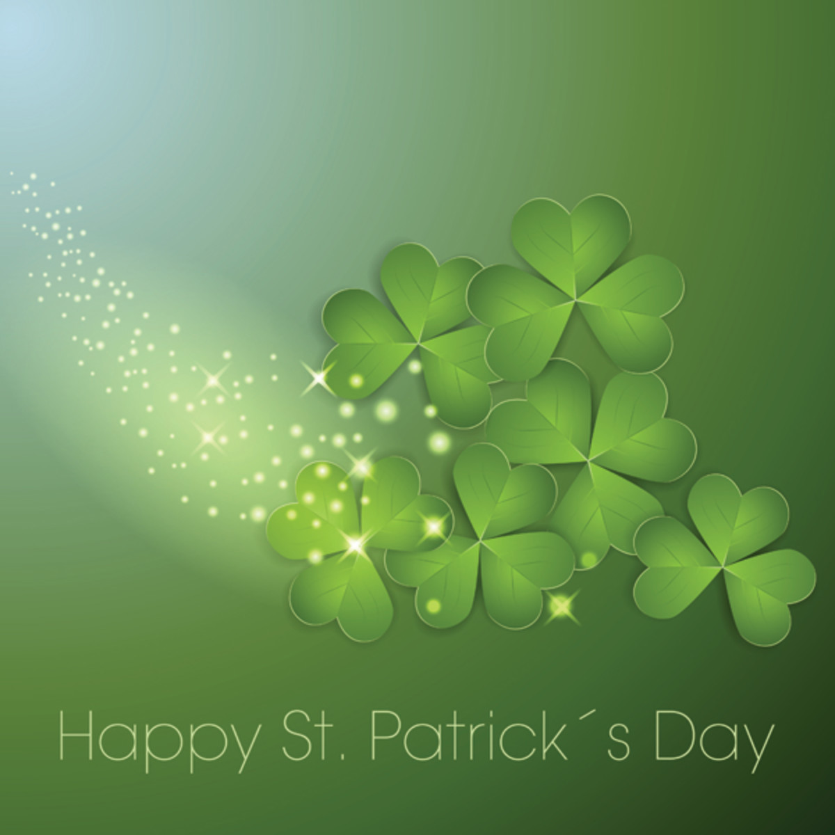 Happy St. Patrick's Day with Sparkling Shamrock Images