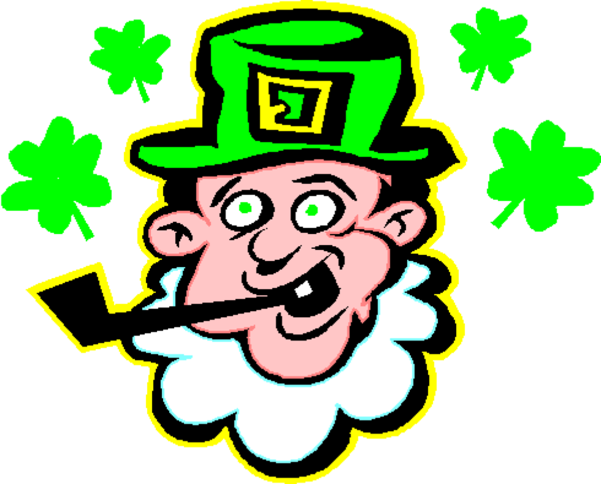 Leprechaun with Green Eyes