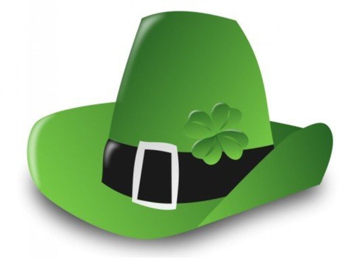 Green Leprechaun Hat with Silver Buckle