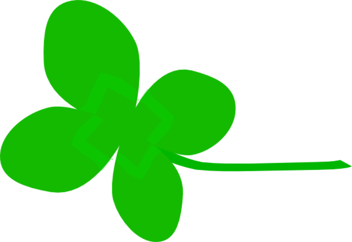 Four-Leaf Shamrock on its Side