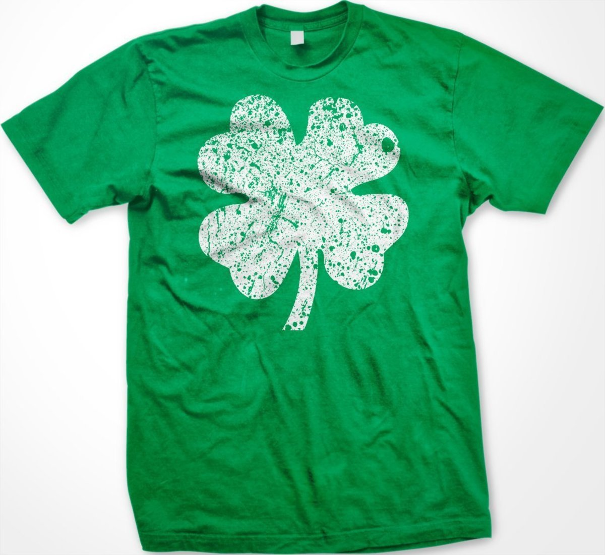 Shamrock on Green T Shirt