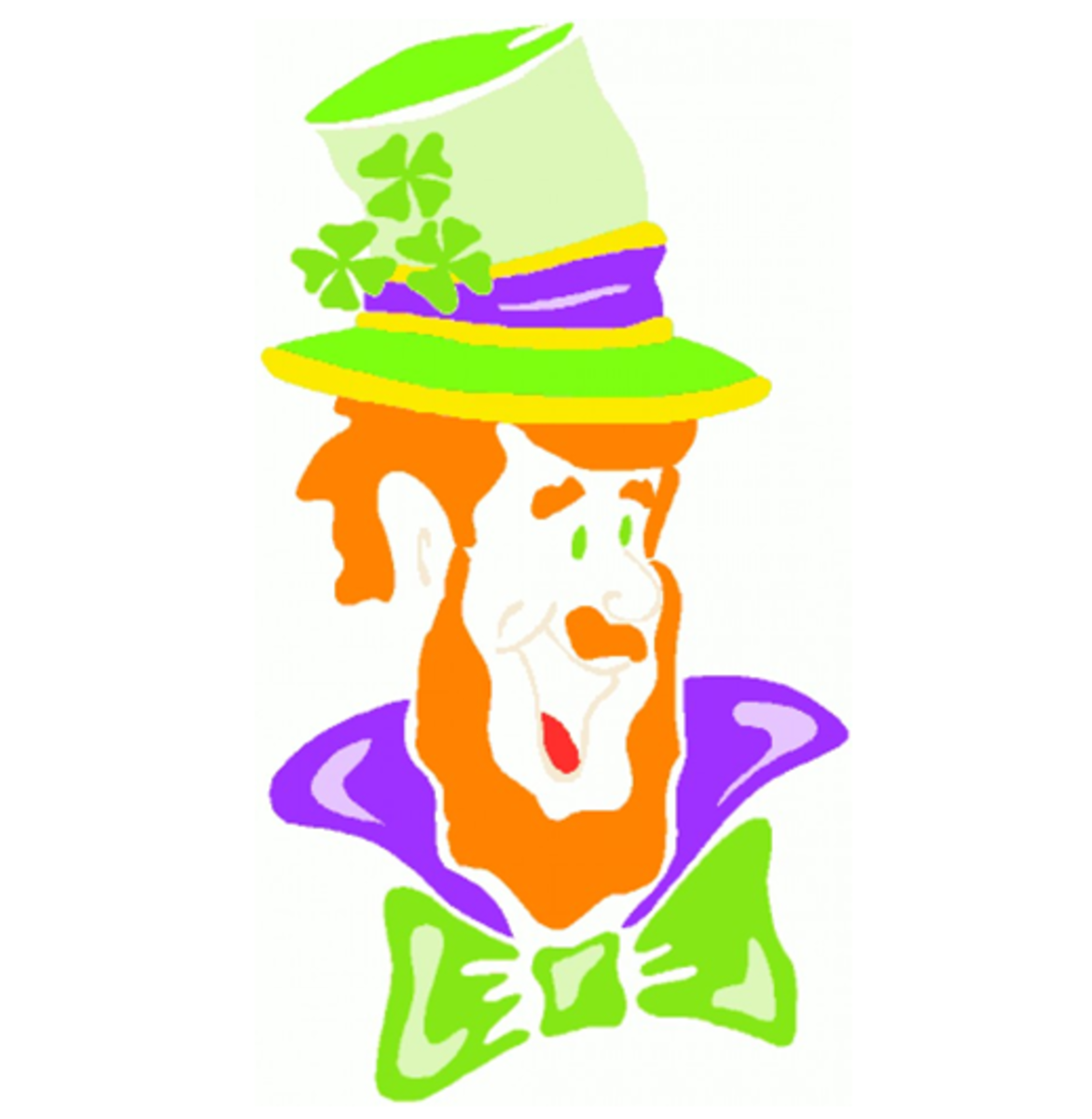 Laughing Cartoon Leprechaun