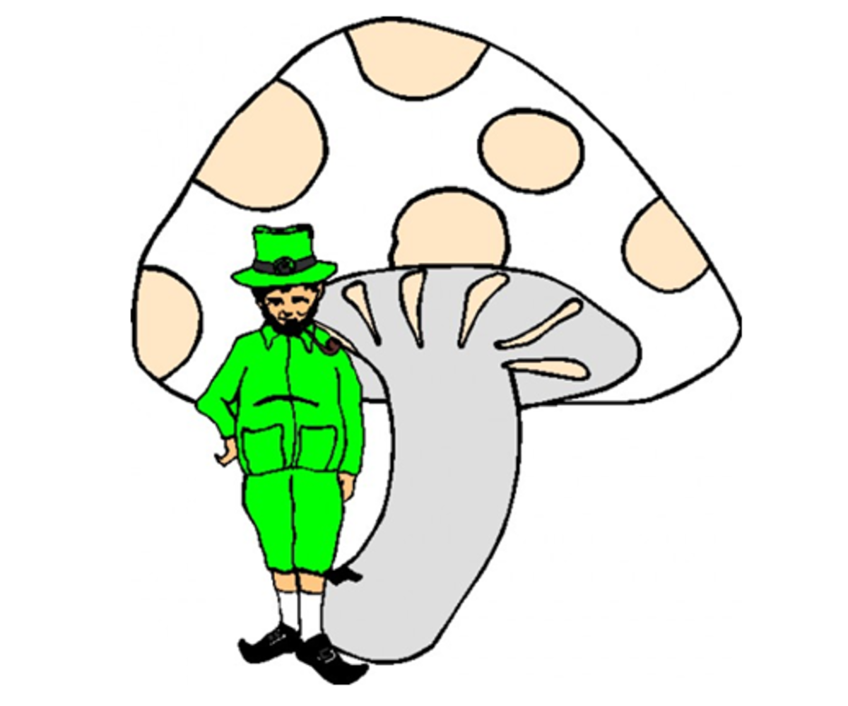 Leprechaun underneath a Toadstool