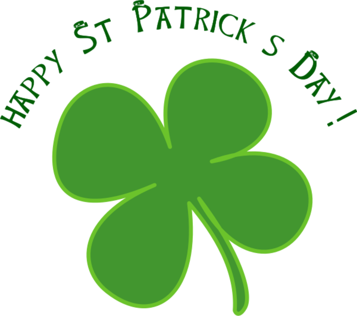 'Happy St. Patrick's Day' with Four-Leaf Clover