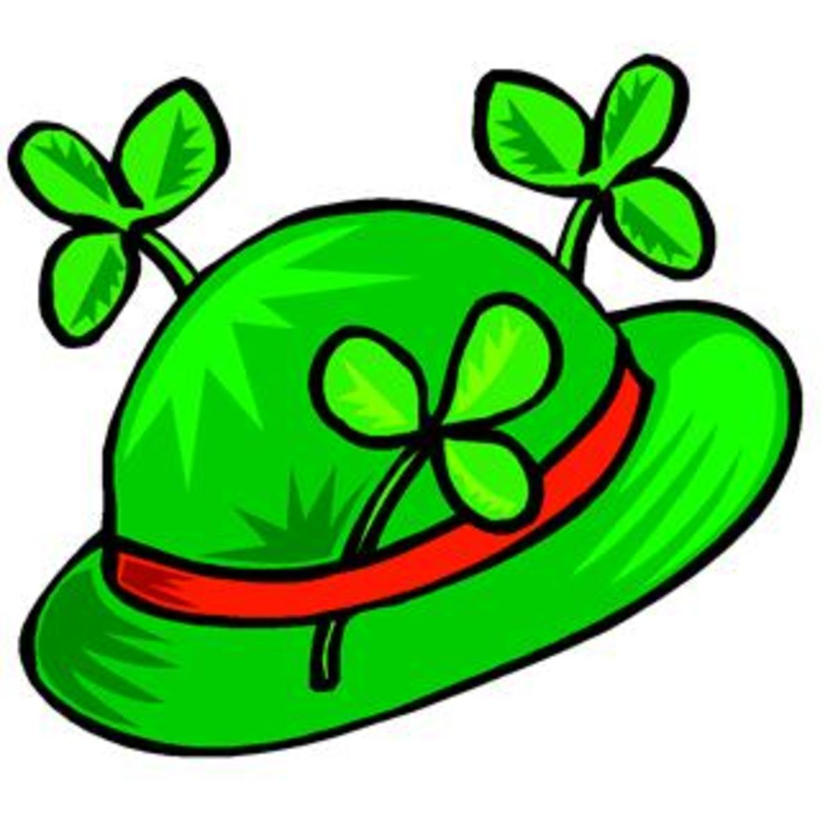 Leprechaun Hat with Red Band