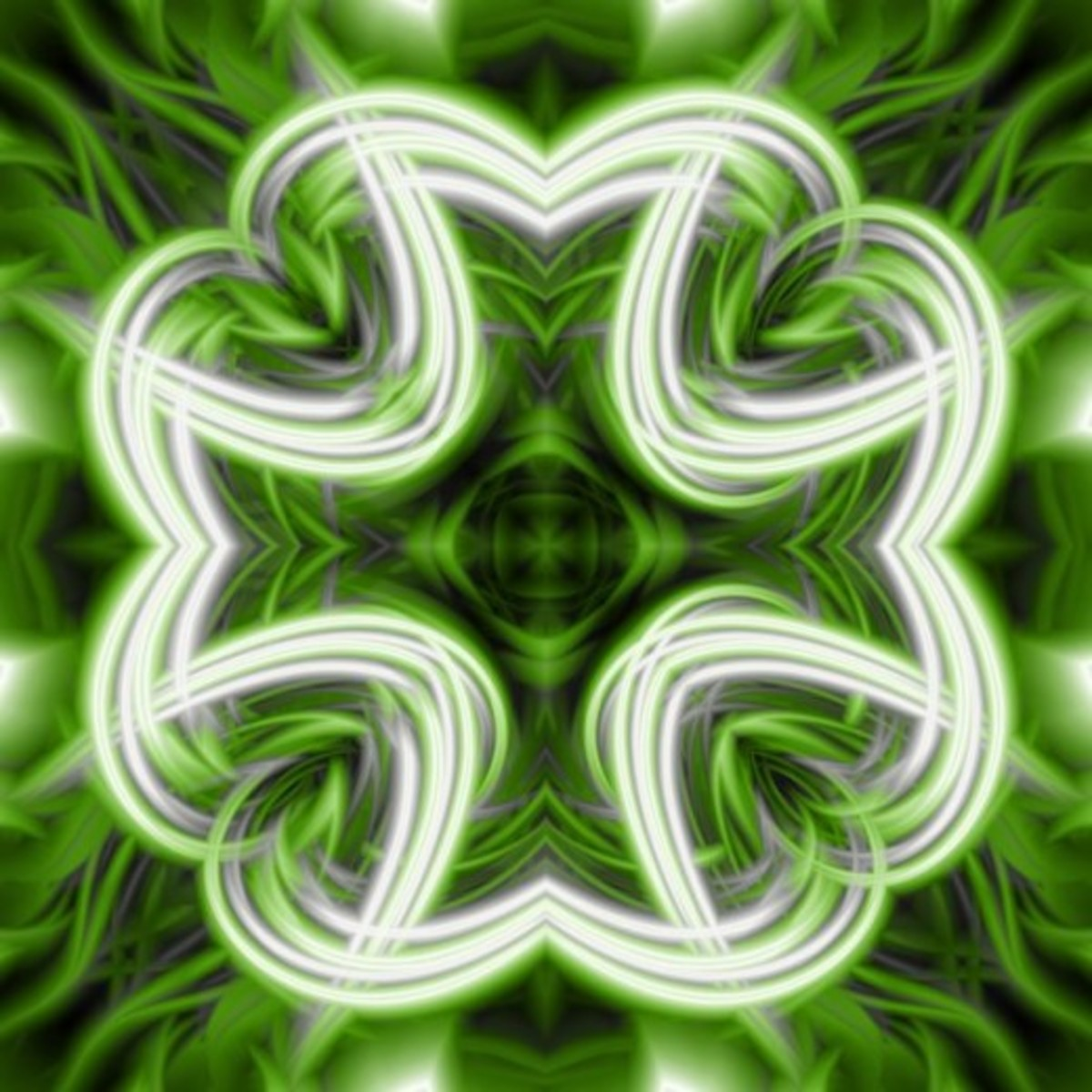 Abstract Four-Leaf Clover