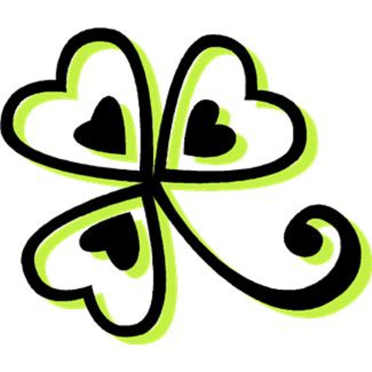 Shamrock with Hearts
