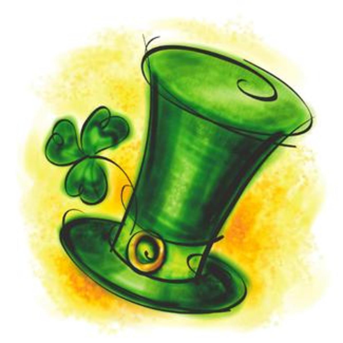 Stovepipe Leprechaun Hat Drawing