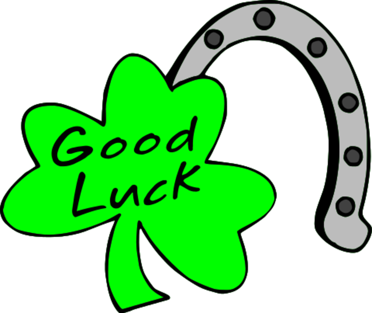 Good Luck Horseshoe with Shamrock