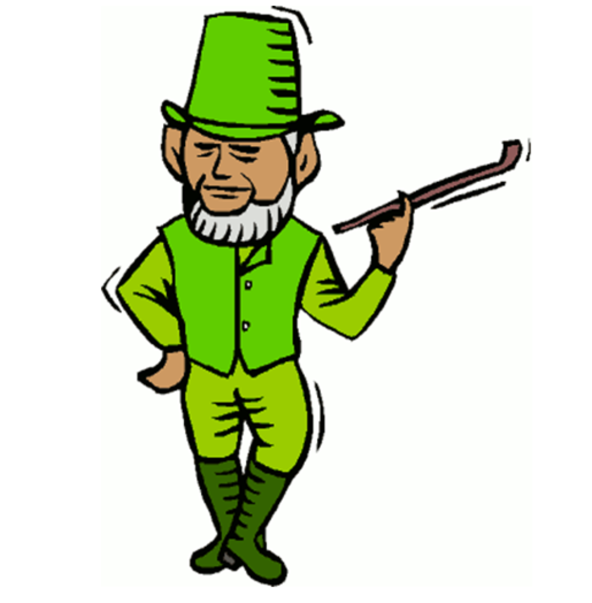 Leprechaun with Long Clay Pipe